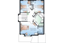 Traditional Floor Plan - Upper Floor Plan Plan #23-834
