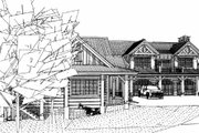 Craftsman Style House Plan - 4 Beds 4.5 Baths 4632 Sq/Ft Plan #451-14 Exterior - Other Elevation