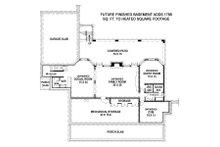 Country Floor Plan - Lower Floor Plan Plan #119-216