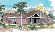 Contemporary Style House Plan - 3 Beds 2.5 Baths 2145 Sq/Ft Plan #124-624 Exterior - Front Elevation