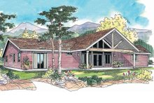 Ranch style country home elevation