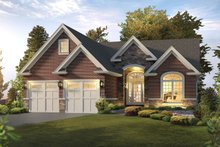 Ranch Exterior - Front Elevation Plan #57-653