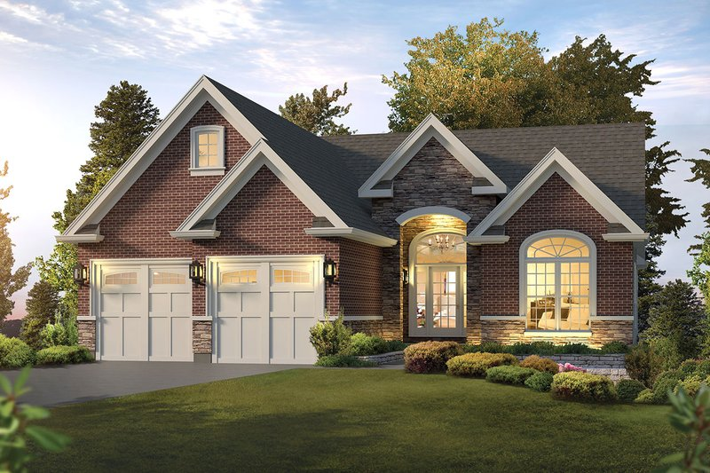 Home Plan - Ranch Exterior - Front Elevation Plan #57-653