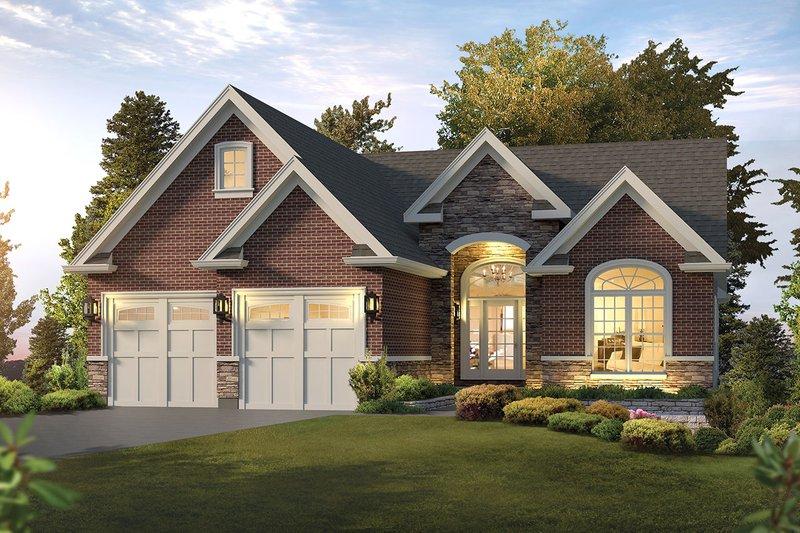 House Plan Design - Ranch Exterior - Front Elevation Plan #57-653