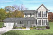 Traditional Style House Plan - 3 Beds 2.5 Baths 2252 Sq/Ft Plan #50-267 Exterior - Front Elevation