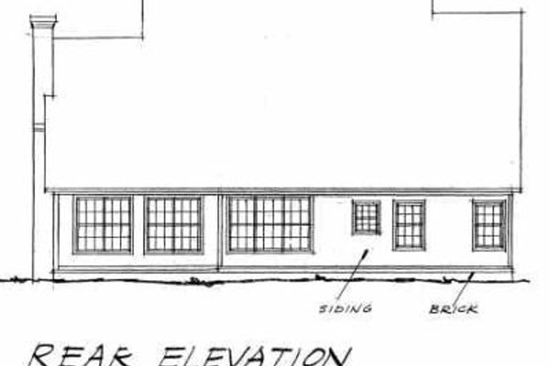 Traditional Exterior - Rear Elevation Plan #20-373 - Houseplans.com