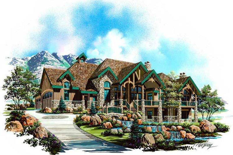 Dream House Plan - Craftsman Exterior - Front Elevation Plan #5-330