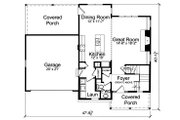 Traditional Style House Plan - 3 Beds 2.5 Baths 1664 Sq/Ft Plan #46-890 Floor Plan - Main Floor