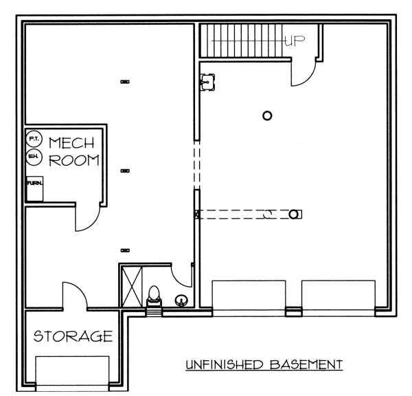 Log Floor Plan - Lower Floor Plan Plan #117-553