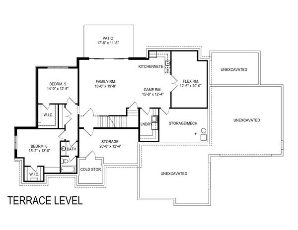 European Floor Plan - Lower Floor Plan Plan #920-107