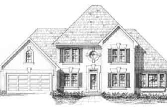 Traditional Exterior - Front Elevation Plan #129-117