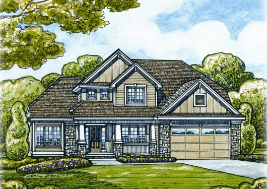 Traditional Exterior - Front Elevation Plan #20-2134 - Houseplans.com