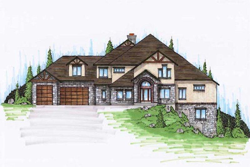 House Plan Design - European Exterior - Front Elevation Plan #5-434