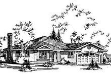 Ranch Exterior - Front Elevation Plan #18-112