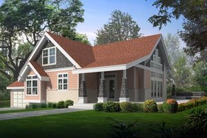 Farmhouse Exterior - Front Elevation Plan #100-214