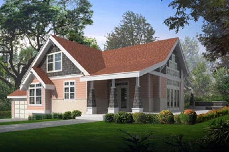 Farmhouse Exterior - Front Elevation Plan #100-214