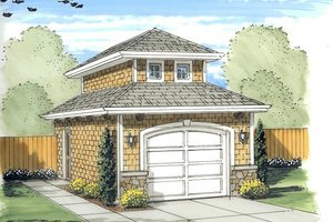 Mediterranean Exterior - Front Elevation Plan #455-16