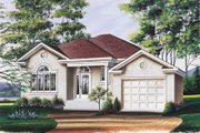 European Style House Plan - 2 Beds 1 Baths 1282 Sq/Ft Plan #23-1025 Exterior - Front Elevation