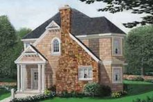 European Exterior - Front Elevation Plan #410-251