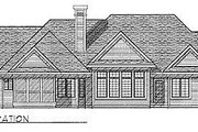 Traditional Style House Plan - 2 Beds 2.5 Baths 2121 Sq/Ft Plan #70-309 Exterior - Rear Elevation