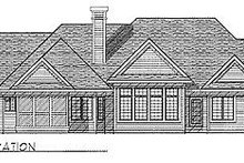 Dream House Plan - Traditional Exterior - Rear Elevation Plan #70-309