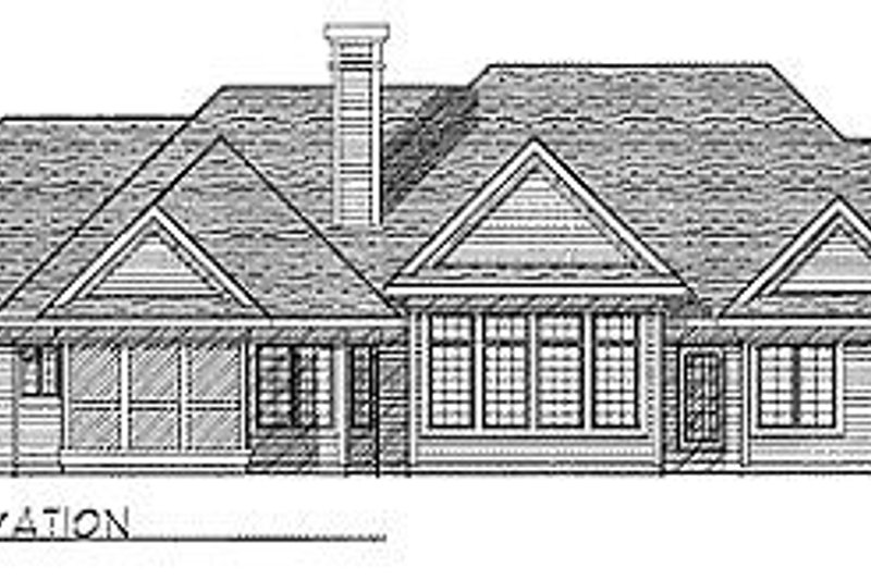 Traditional Exterior - Rear Elevation Plan #70-309 - Houseplans.com