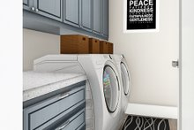 Ranch Interior - Laundry Plan #406-9655