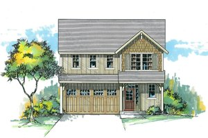 Dream House Plan - Craftsman Exterior - Front Elevation Plan #53-538