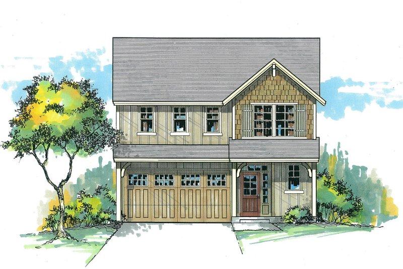 Dream House Plan - Craftsman Exterior - Front Elevation Plan #53-538