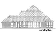 Dream House Plan - Traditional Exterior - Rear Elevation Plan #84-387