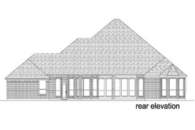 Traditional Exterior - Rear Elevation Plan #84-387 - Houseplans.com