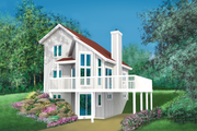 Traditional Style House Plan - 3 Beds 2 Baths 993 Sq/Ft Plan #25-2285 Exterior - Front Elevation