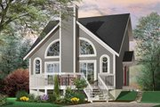 Modern Style House Plan - 1 Beds 1.5 Baths 1148 Sq/Ft Plan #23-2029 Exterior - Front Elevation