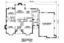 Traditional Floor Plan - Main Floor Plan Plan #20-2300