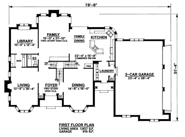 Traditional Floor Plan - Main Floor Plan Plan #20-2300