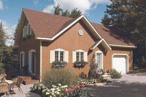 Cottage Exterior - Front Elevation Plan #23-2146