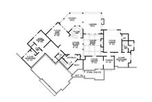 Craftsman Floor Plan - Lower Floor Plan Plan #54-386