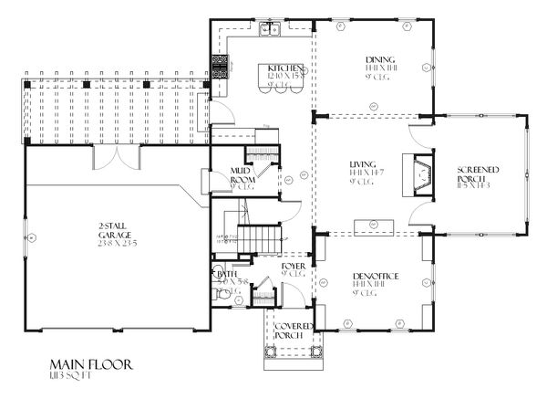 Farmhouse Floor Plan - Main Floor Plan Plan #901-92