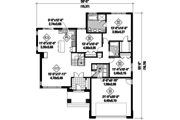Prairie Style House Plan - 3 Beds 2 Baths 1637 Sq/Ft Plan #25-4460 Floor Plan - Main Floor Plan