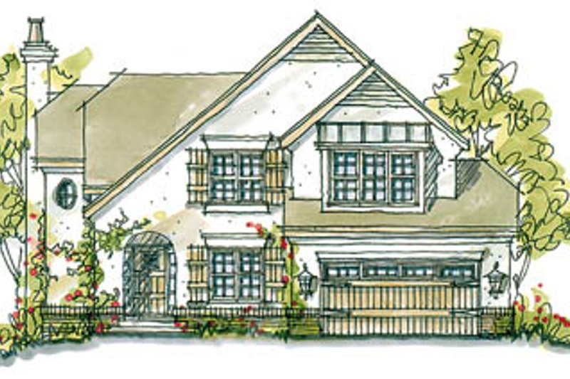 European Exterior - Front Elevation Plan #20-251