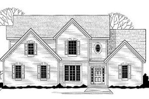 Traditional Exterior - Front Elevation Plan #67-135