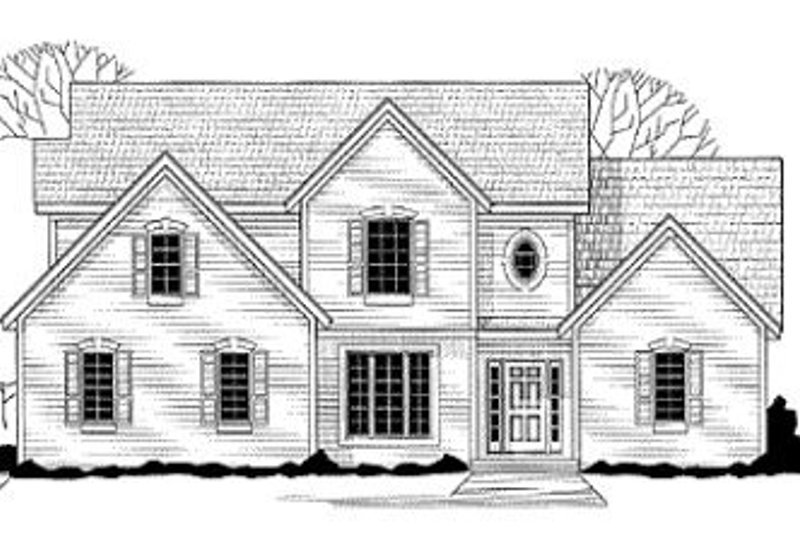 Traditional Style House Plan - 4 Beds 3 Baths 2450 Sq/Ft Plan #67-135 Exterior - Front Elevation