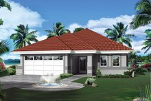 Ranch Exterior - Front Elevation Plan #57-642