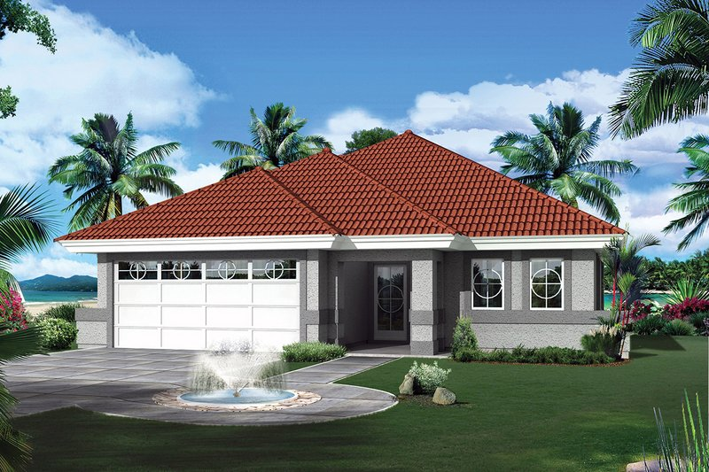 Architectural House Design - Ranch Exterior - Front Elevation Plan #57-642