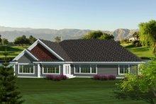 Dream House Plan - Ranch Exterior - Rear Elevation Plan #70-1123