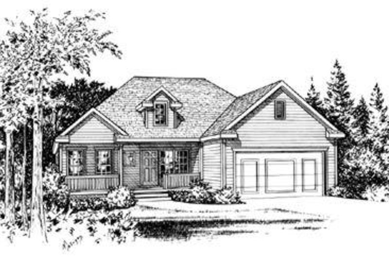 Traditional Exterior - Front Elevation Plan #20-434