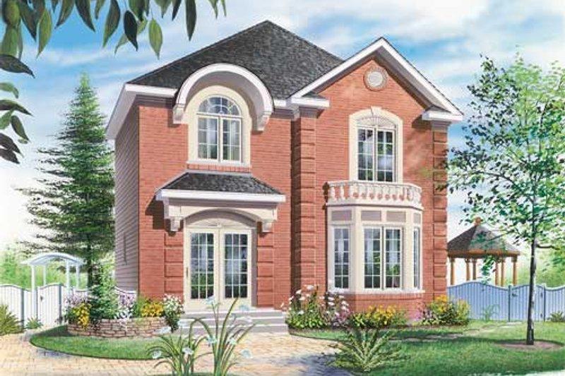 Dream House Plan - European Exterior - Front Elevation Plan #23-2172