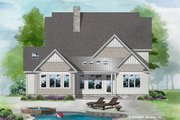 Cottage Style House Plan - 4 Beds 3 Baths 2458 Sq/Ft Plan #929-1108 Exterior - Rear Elevation