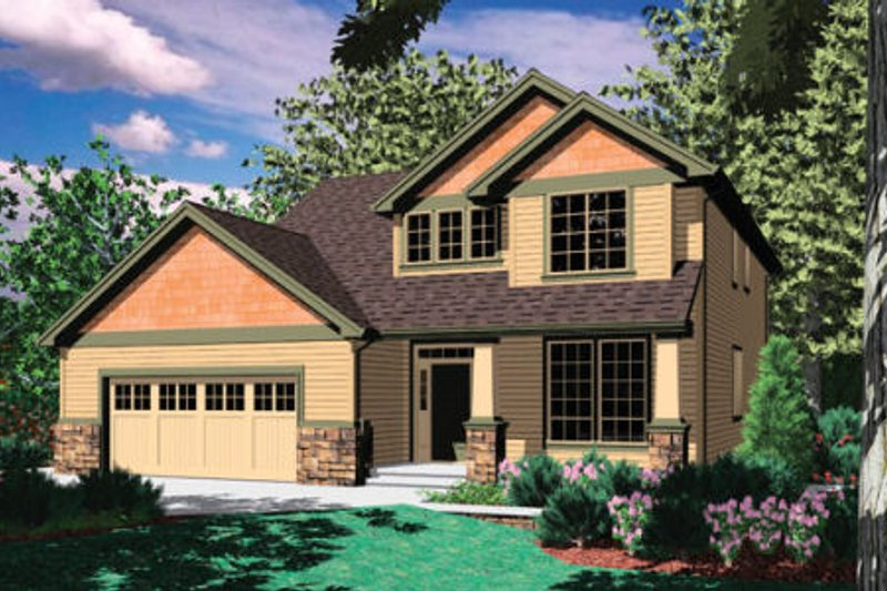Craftsman Exterior - Front Elevation Plan #48-325