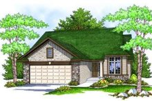 Ranch Exterior - Front Elevation Plan #70-812